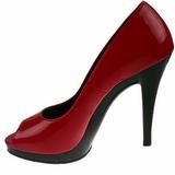 Rosso Vernice 12 cm FLAIR-474 Scarpe Décolleté Punta Aperta