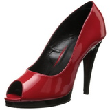 Rosso Vernice 12 cm FLAIR-474 Scarpe Tacco Alto da Uomo