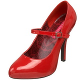 Rosso Vernice 12 cm rockabilly TEMPT-35 scarpe décolleté con tacchi bassi