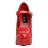 Rosso Vernice 13 cm DOLLY-50 Tacchi altissimi da uomo