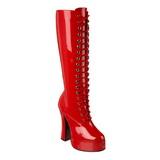 Rosso Vernice 13 cm ELECTRA-2020 Stivali Donna da Uomo