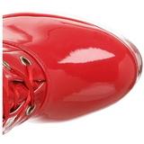 Rosso Vernice 13 cm ELECTRA-3028 stivali alti numeri grandi da uomo