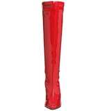 Rosso Vernice 13 cm SEDUCE-2000 Stivali Donna da Uomo