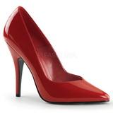 Rosso Vernice 13 cm SEDUCE-420V Scarpe Décolleté Tacco Basso