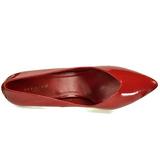 Rosso Vernice 13 cm SEDUCE-420V Tacchi altissimi da uomo