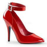 Rosso Vernice 13 cm SEDUCE-431 scarpe décolleté con tacchi bassi