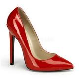 Rosso Vernice 13 cm SEXY-20 Scarpe Décolleté Tacco Basso
