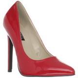 Rosso Vernice 13 cm SEXY-20 scarpe tacchi a spillo con punta