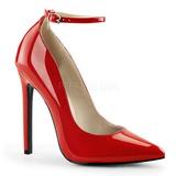 Rosso Vernice 13 cm SEXY-23 Scarpe Décolleté Classico Donna