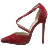 Rosso Vernice 13 cm SEXY-26 Scarpe Décolleté Classico Donna