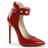 Rosso Vernice 13 cm SEXY-31 Scarpe Décolleté Classico Donna