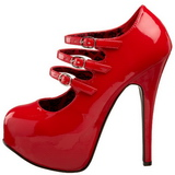 Rosso Vernice 14,5 cm Burlesque TEEZE-05 Scarpe da donna con tacco altissime