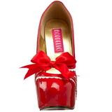 Rosso Vernice 14,5 cm Burlesque TEEZE-14 Scarpe da donna con tacco altissime