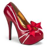 Rosso Vernice 14,5 cm TEEZE-14 Scarpe da donna con tacco altissime
