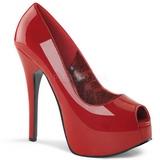 Rosso Vernice 14,5 cm TEEZE-22 Scarpe Décolleté Tacco Stiletto
