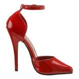 Rosso Vernice 15 cm DOMINA-402 Tacchi altissimi da uomo