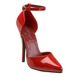 Rosso Vernice 15 cm DOMINA-402 scarpe décolleté con tacchi bassi