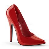 Rosso Vernice 15 cm DOMINA-420 Scarpe Décolleté Tacco Stiletto