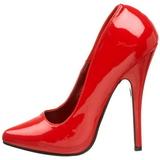 Rosso Vernice 15 cm DOMINA-420 Tacchi altissimi da uomo