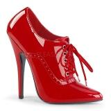 Rosso Vernice 15 cm DOMINA-460 scarpe décolleté con tacchi bassi