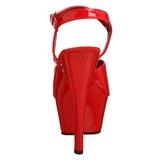 Rosso Vernice 15 cm Pleaser KISS-209 Tacchi Alti Plateau