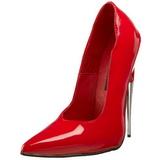 Rosso Vernice 15 cm SCREAM-01 Scarpe Décolleté Tacco Stiletto