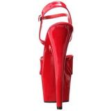 Rosso Vernice 18 cm ADORE-709 Tacchi Alti Plateau