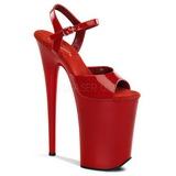 Rosso Vernice 23 cm INFINITY-909 Tacchi Alti Plateau