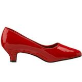 Rosso Vernice 5 cm FAB-420W Scarpe Décolleté Tacco Basso