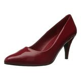 Rosso Vernice 7,5 cm PUMP-420 scarpe décolleté con tacchi bassi