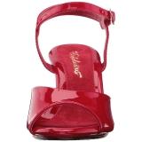 Rosso Vernice 8 cm BELLE-309 Sandali Donna con Tacco