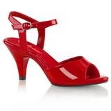Rosso Vernice 8 cm BELLE-309 scarpe tacco alto numeri grandi per uomo