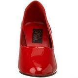 Rosso Vernice 8 cm DIVINE-420W Scarpe Décolleté Tacco Basso