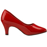 Rosso Vernice 8 cm DIVINE-420W scarpe décolleté con tacchi bassi