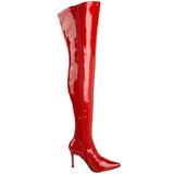 Rosso Vernice 9,5 cm LUST-3000 stivali overknee tacco alto