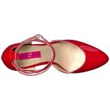 Rosso Verniciata 10 cm DREAM-408 grandi taglie scarpe décolleté