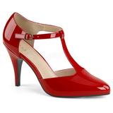 Rosso Verniciata 10 cm DREAM-425 grandi taglie scarpe décolleté
