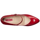 Rosso Verniciata 10 cm DREAM-428 grandi taglie scarpe décolleté