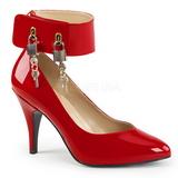 Rosso Verniciata 10 cm DREAM-432 grandi taglie scarpe décolleté