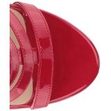 Rosso Verniciata 10 cm DREAM-438 grandi taglie stivaletti donna