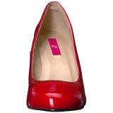 Rosso Verniciata 10 cm QUEEN-04 grandi taglie scarpe décolleté