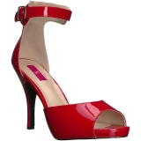 Rosso Verniciata 12,5 cm EVE-02 grandi taglie sandali donna
