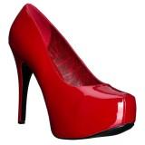 Rosso Verniciata 14,5 cm TEEZE-06W scarpe décolleté per piedi larghi da uomo