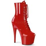 Rosso Verniciata 18 cm ADORE-1020 stivaletti con plateau donna