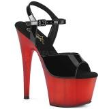 Rosso Verniciata 18 cm ADORE-709T sandali pleaser con plateau