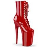 Rosso Verniciata 23 cm INFINITY-1020 tacchi estremi - stivaletti più plateau alto