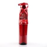 Rosso Verniciata 25,5 cm BEYOND-087 tacchi estremi - scarpe décolleté più plateau alto