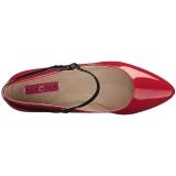 Rosso Verniciata 5 cm FAB-425 grandi taglie scarpe décolleté