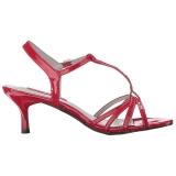 Rosso Verniciata 6 cm KITTEN-06 grandi taglie sandali donna