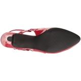 Rosso Verniciata 7,5 cm DIVINE-418 grandi taglie scarpe décolleté